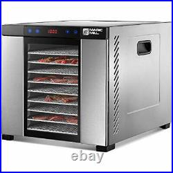 Commercial Food Dehydrator 11 Tray Stainless Steel Fruit Meat Jerky Dryer US