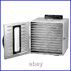 Commercial Food Dehydrator 12 Tray Stainless Steel Fruit Meat Jerky Dryer US
