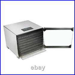 Commercial Food Dehydrator 5/6/10 Tray Stainless Steel Fruit Meat Jerky Dryer US