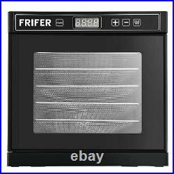 Commercial Food Dehydrator 6 Tray Stainless Steel Fruit Meat Jerky Dryer 21L
