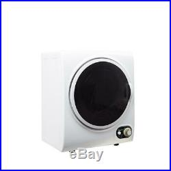 Compact 1.5 cu. Ft. Electric Dryer White Lint Filter Stainless Steel Easy-Set Cont