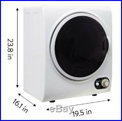 Compact Dryer Stainless Steel Front Loading Durable Home Apartment 1.5 cu ft