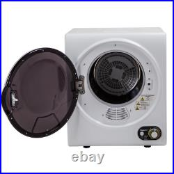 Compact Electric Clothes Dryer Portable 1.5 Cu. Ft. Stainless Steel Laundry Tub
