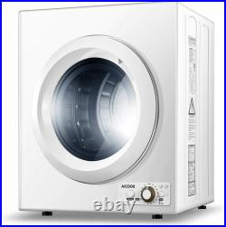Compact Laundry Dryer 1400W Portable 9 lbs Stainless Steel Tub 2.65 Cu Ft