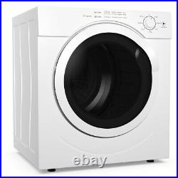 Costway 13lbs Electric Tumble Compact Laundry Dryer Stainless Steel 3.0 Cu. Ft