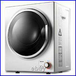 Costway Electric Tumble Compact Cloth Dryer Stainless Steel Wall Mounted 1.5 Cu