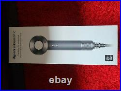 Dyson Supersonic Hair Dryer In Black/Nickel Stainless Steel OPENED NEVER USED