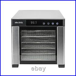 ElectriQ Digital Food Dehydrator & Dryer with 6 Shelves and 48 Hour Timer Stai