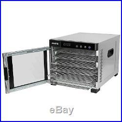 ElectriQ Digital Food Dehydrator & Dryer with 6 Shelves and 48 Hour Timer eqddss