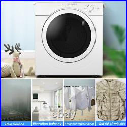 Electric 27lbs Tumble Compact Laundry Dryer Stainless Steel Powerful 3.21 Cu. Ft