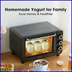 Electric Food Dehydrator Fruit Dryer Machine Yogurt Maker 4 Stainless Steel Tray