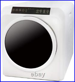 Electric Portable Compact Cloth Dryer, White, Panda PAN206ET, Stainless Steel tub
