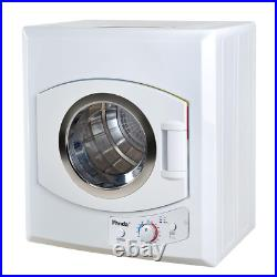 Electric Portable Laundry Dryer Compact White 110 Volt Stainless Steel Drum Mech