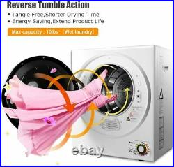 Electric Tumble Compact Laundry Clothes Dryer Stainless Steel Wall Mounted 10 lb