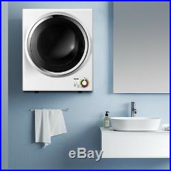 Electric Tumble Compact Laundry Dryer Stainless Steel Wall Mounted 1.5 cu. Ft