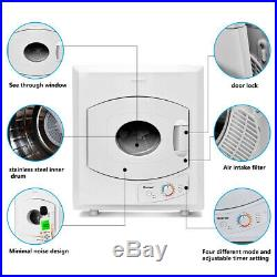 Electric Tumble Compact Laundry Dryer Stainless Steel Wall Mounted Versatile