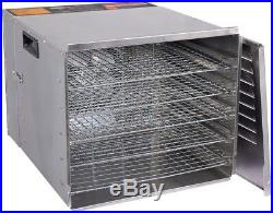 Food Dehydrator 1200W 10 removable square trays Commercial Fruit Jerky Dryer
