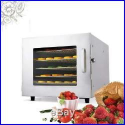 Food Dehydrator 5/6Tier Stainless Steel Fruit Jerky Meat Dryer Blower, Commercial