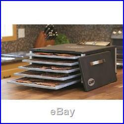 Food Dehydrator 5 Tray Stainless Steel Fruit Jerky Meat Dryer Blower Commercial