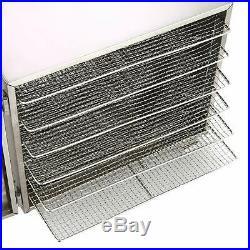 Food Dehydrator 6 Tray Stainless Steel Fruit Jerky Meat Dryer Blower Commercial