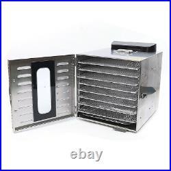 Food Dehydrator 8 Tray Stainless Steel Fruit Jerky Meat Dryer Blower Commercial