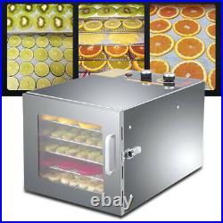 Food Dehydrator Dryer 6 Trays Fruit Dryer Timer Temperature Control 35-75 USA