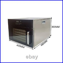 Food Dehydrator Machine 6 Trays Stainles Fruit Vegetable Meat Drying Dryer 110V