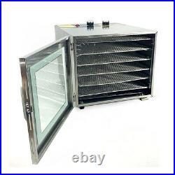 Food Dehydrator Machine Fruit Meat Beef Jerky Dryer Stainless Steel 6 Trays