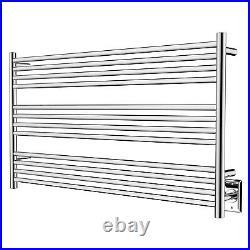 HEATGENE Towel Warmer 12 Bar Towel Dryer Wall-Mounted Plug-in Bath Towel Heater