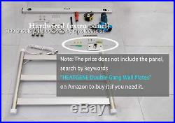 HEATGENE Towel Warmer 3 Flat Bar Towel Dryer Wall-Mounted Plug-in Bath Towel