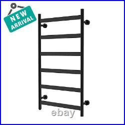 HEATGENE Towel Warmer 6 Flat Bar Towel Dryer Wall-Mounted Plug-in Towel Heater