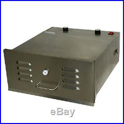 Hakka 5 Trays 800W Fruit and Vegetable Dryer Food Dehydrator with Timer