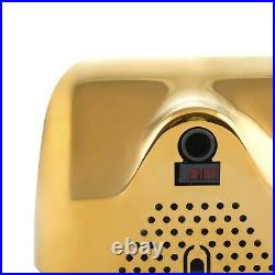 Hand Dryer High Speed Automatic Electric Heavy Duty Stainless Steel Gold