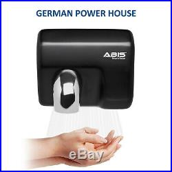 Hand Dryers High Speed Automatic Electric Heavy Duty Stainless Steel BLACK