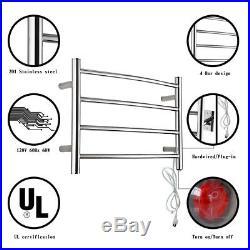 Hardwired Towel Warmer 4 Heated Bars Towel Dryer For Narrow Bathroom Save Space