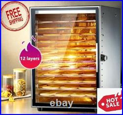 High Capacity 12Layers Fruit Dryer, Food Dehydration Drying Machine Commercial