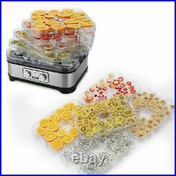 Homdox 5/6/7/8 Tray Food Dehydrator Preserver Fruit Vegetable Dryer Jerky Maker