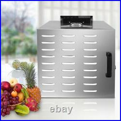 Home Food Dehydrator 10 Tray Stainless Steel Fruit Jerky Dryer Blower Commercial