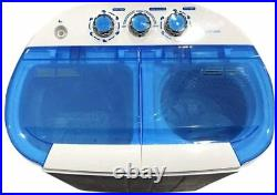 Intexca Portable Twin Tub Mini Washing Machine with Spin and Dryer Function-BLUE