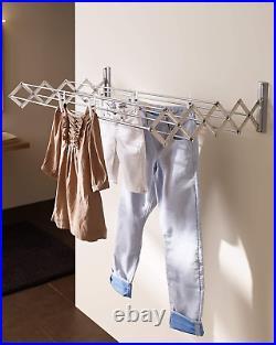 Juwel Ruckzuck 100 Clothes Drying Length 8.5 m, Extendible Wall Dryer, Width 100