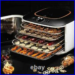 LEQUIP IR D5 Electric Food Dehydrator Stainless Steel 5 Trays Dryer 220V 60Hz