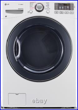 LG DLEX3570W SteamDryer Series 27 Inch Electric Dryer with TrueSteam in White