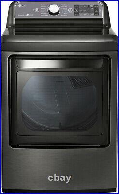 LG DLGX7601KE 27 Inch 7.3 cu. Ft. Gas Dryer, Black Stainless Steel
