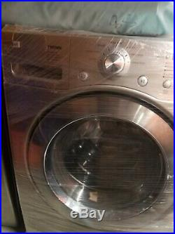 LG Washer and Electric Dryer set used stainless steel both look great