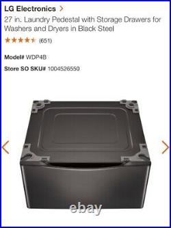 LG washer and dryer pedestals. Black Steel. 27. Never used. $240 each