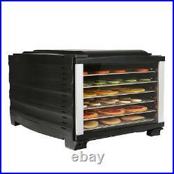 Livebest Food Dehydrator Machine Meat Dryer Digital Fruit Stainless Steel Racks