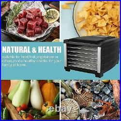 Luckyermore 6-Tray Food Dehydrator Machine Dryer Stainless Steel Fruit Jerky