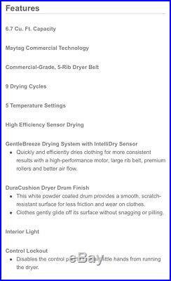 MUST SELL Maytag Performance Gas Dryer, Front Load, Large Capacity, Decorated