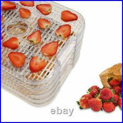 NEW 6 Tray Food Dehydrator Machine Stainless Steel Racks Healthy Fruit Jerky`