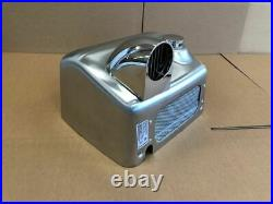NOFER Manual Hand Dryer 0110. S 2450W Push button Stainless Steel